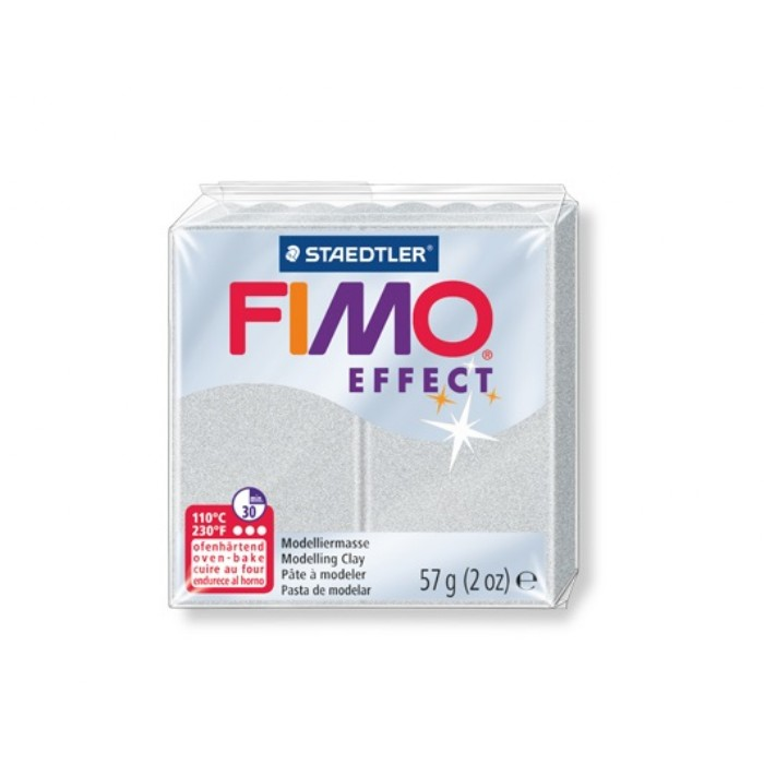 Staedtler Πηλός Fimo Effect Metallic Silver 81 57gr