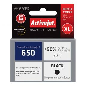 Activejet Μελάνι HP 650 XL Black
