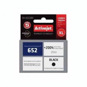 Activejet Μελάνι HP 652 XL Black