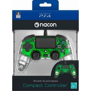 Bigben Nacon Wired Illuminated Compact Controller Crystal Green PS4