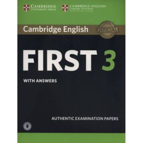 Cambridge English First 3 - Self Study Pack (Student's Book With Answers & Audio Download)