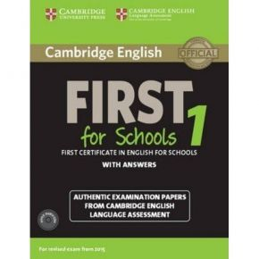 Cambridge English First For Schools 1 - Self Study Edition (With Answers+CDs)