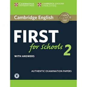 Cambridge English First For Schools 2 - Self Study Edition (With Answers+Downloadable Audio)