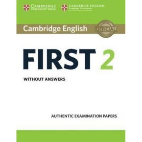 Cambridge First Certificate In English 2 - Student's Book (Without Answers)