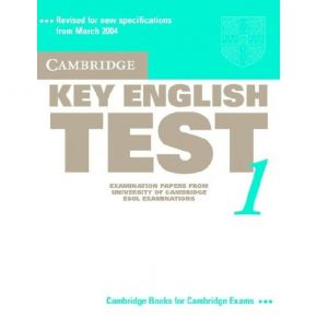 Cambridge Key English Test 1 - Student's Book
