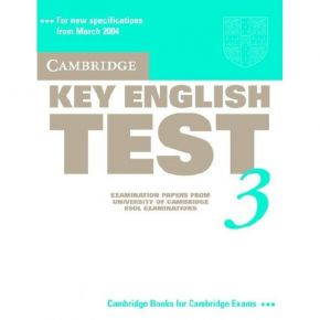 Cambridge Key English Test 3 - Student's Book