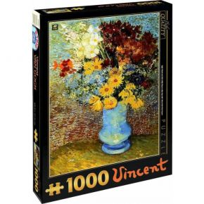 D-Toys Παζλ 1000 τεμ. Van Gogh Flowers In A Blue Vase