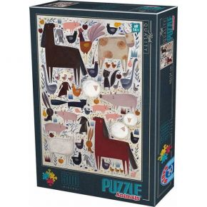 D-Toys Παζλ 500 τεμ. Kürti Andrea Farm Animals