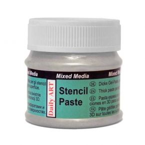 Daily Art Mixed Media Stencil Paste Silver 50ml