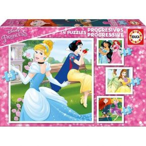 Educa Παζλ 12/16/20/25 τεμ. Progressive 4 Puzzles Princess