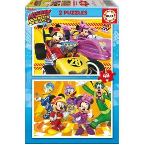 Educa Παζλ 2x48 τεμ. Mickey Roadster Racers