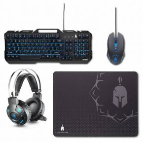 Enarxis Spartan Gear Hydra Gaming Combo (Keyboard, Mouse, Headset, Mousepad) For PC