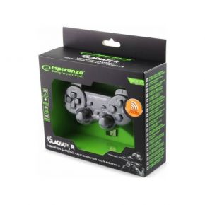 Esperanza Χειριστήριο Gamepad Wireless PS3/PC Gladiator EGG108K Μαύρο