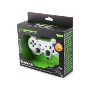 Esperanza Χειριστήριο Gamepad Wireless PS3/PC Gladiator EGG108W Άσπρο