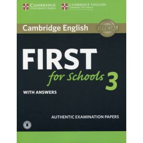 First For Schools 3 - Self Study Pack (Student's Book With Answers & Audio Download)