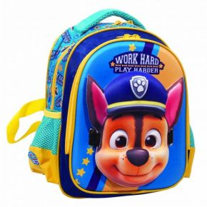 GIM Τσάντα Πλάτης Νηπίου Paw Patrol Work Hard Play Harder Blue Mask