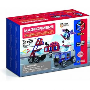 Magformers Αστυνομία Και Διάσωση 26 Τεμάχια