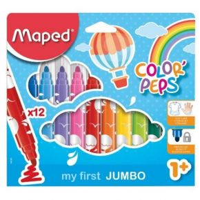 Maped Μαρκαδόροι Ζωγραφικής My First Jumbo Color'Peps 12 Τεμ.