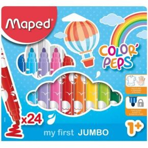 Maped Μαρκαδόροι Ζωγραφικής My First Jumbo Color'Peps 24 Τεμ.