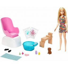 Mattel Barbie You Can Be Anything - Wellness Mani-Pedi Spa GHN07