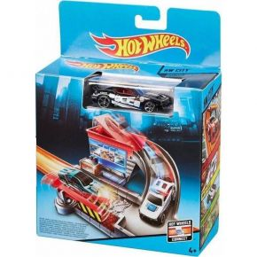 Mattel Hot Wheels City Track Set Tollbooth Takedown