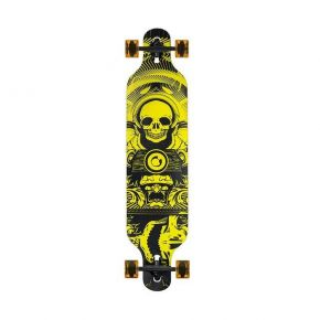 Nils Extreme Τροχοσανίδα Long Board Skate Wood Homeland Skull