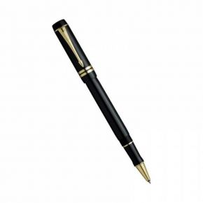 Parker Duofold Black Gold Trims Rollerball