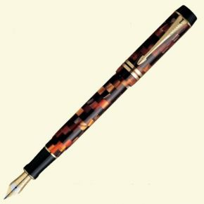 Parker Duofold Check Amber GT (Gold Trim) Fountain Pen