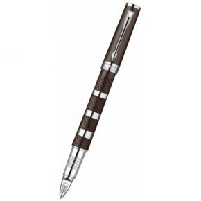Parker Ingenuity Large Brown Metal And Rubber CT (Chrome Trim)