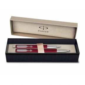 Parker Set Δώρου Στυλό Vector Red Ballpoint & Roller Ball CT