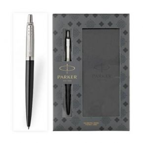 Parker Set Κασετίνα Δώρου Στυλό Jotter Premium Tower Diagonal Grey CT Ballpoint & Notebook