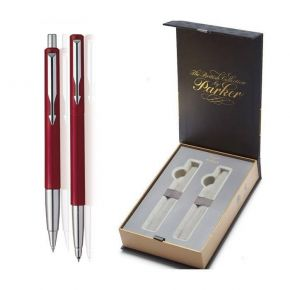 Parker Set Κασετίνα Δώρου Στυλό Vector Red Ballpoint & Roller Ball CT