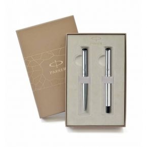 Parker Set Κασετίνα Δώρου Στυλό Vector Stainless Steel Ballpoint & Roller Ball CT