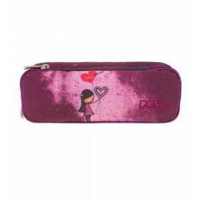 Polo Κασετίνα Οβάλ Pencil Case Duo Turbo Girl Love