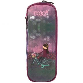 Polo Κασετίνα Οβάλ Pencil Case Expand Glow Bike Girl