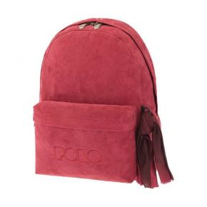 Polo Σακίδιο Πλάτης Backpack With Scarf Velvet Κόκκινο