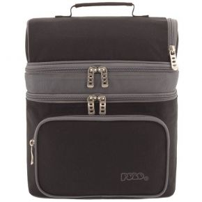 Polo Τσαντάκι Φαγητού Double Cooler Black