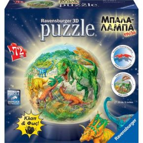 Ravensburger 3D Puzzle Μπαλαλάμπα Δεινόσαυροι 72 Τεμ.