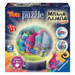 Ravensburger 3D Puzzle Μπαλαλάμπα Τρέλα 72 τεμ. Ευχούληδες Trolls