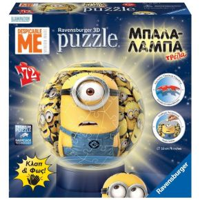 Ravensburger 3D Puzzle Μπαλαλάμπα Τρέλα 72 τεμ. Minions