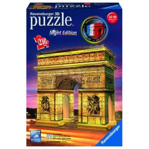 Ravensburger 3D Puzzle Night Edition 216 τεμ. Αψίδα Θριάμβου
