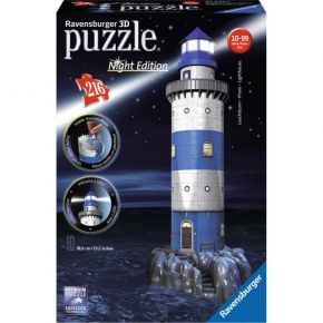 Ravensburger 3D Puzzle Night Edition 216 τεμ. Φάρος