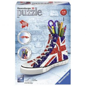 Ravensburger 3D Puzzle Sneaker Uk Flag 108 Τεμ.