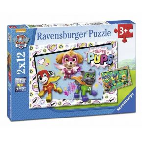 Ravensburger Παζλ 2x12 τεμ. Paw Patrol Super Pups In Action