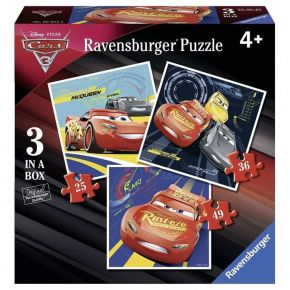 Ravensburger Παζλ 3 In A Box Cars 25, 36 & 49 τεμ