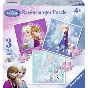 Ravensburger Παζλ 3 In A Box Frozen 25, 36 & 49 τεμ