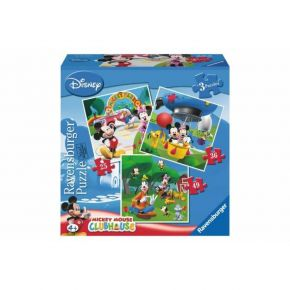 Ravensburger Παζλ 3 In A Box Mickey Mouse 25, 36 & 49 τεμ
