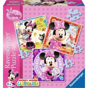 Ravensburger Παζλ 3 In A Box Minnie Mouse 25, 36 & 49 τεμ