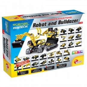 Real Fun Lisciani Robot And Bulldozer (25 In 1)