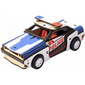 Robotime Ξύλινο Puzzle 3D Inertia Power Vehicles Police Car